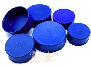 批发优质钢管封口帽 内衬式 管道塑料封口帽 蓝色型号齐全