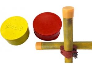 脚手架钢管保护帽_架子管末端防护套_48.6管子塑料管套_原创解析